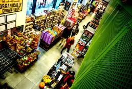 Supermarket with organic goods